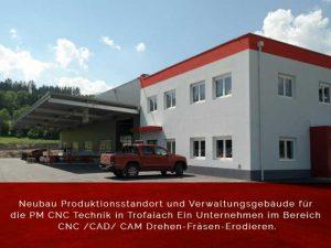 PM CNC Technik Buro Hallenneubau
